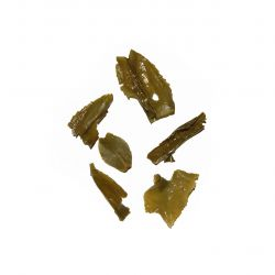 Organic Chut Mool Green Tea - wet leaf